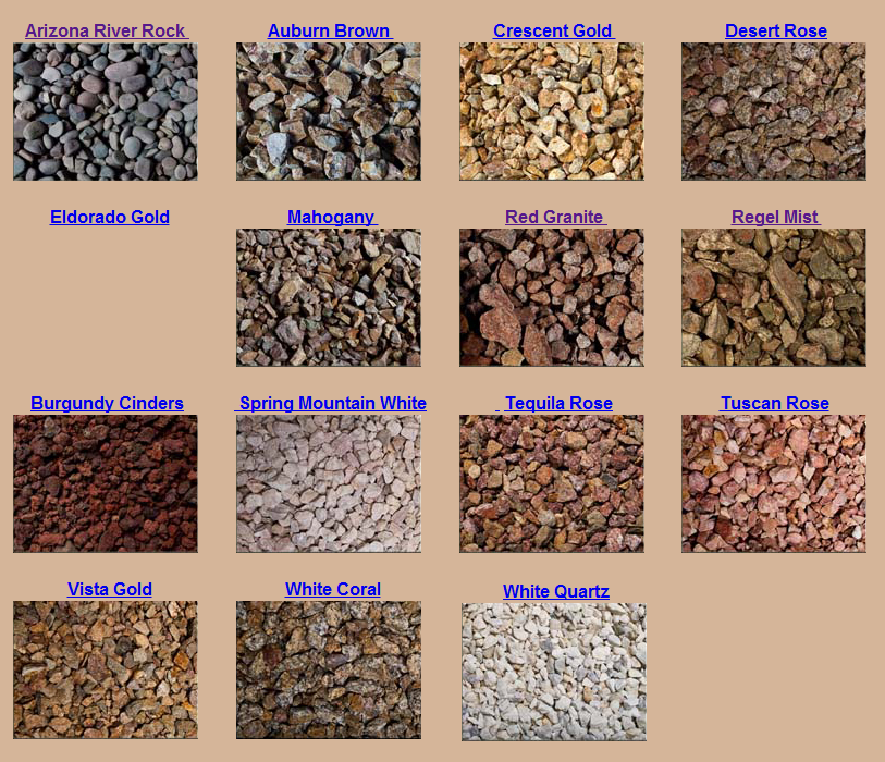 Las vegas decorative rock for Different color rocks for landscaping