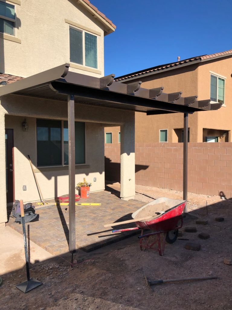 las vegas patio construction with pavers